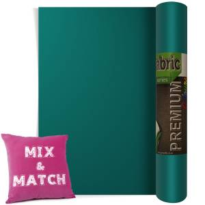 Turquoise Premium Coloured HTV Textile Film From GM Crafts