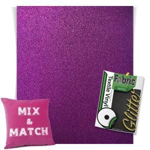 Purple HTV Glitter Sheets From GM Crafts