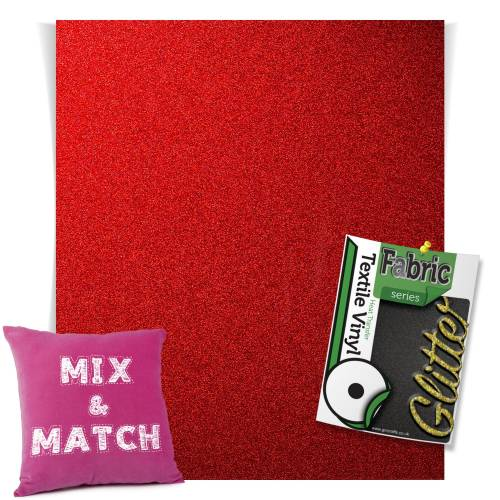 Red HTV Glitter Sheets From GM Crafts