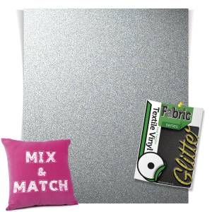 Silver HTV Glitter Sheets From GM Crafts