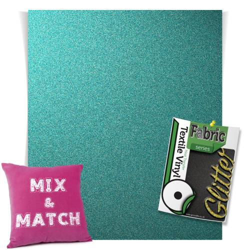 Sky Blue HTV Glitter Sheets From GM Crafts
