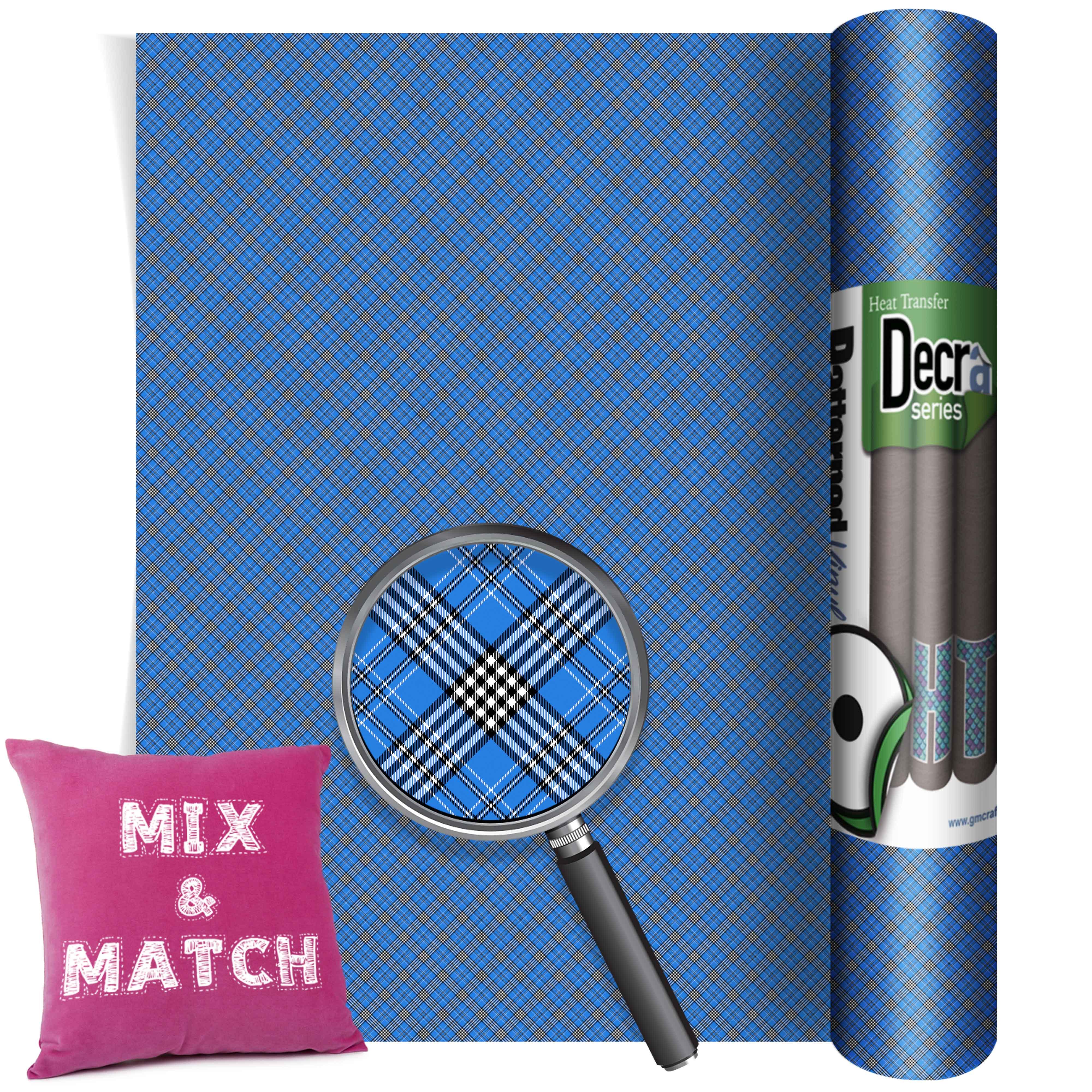 Tartan Blue Small Htv 220mm X 480mm Gm Crafts