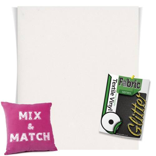 White HTV Glitter Sheets From GM Crafts