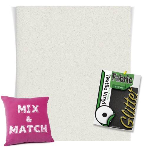 White Granite HTV Glitter Sheets From GM Crafts