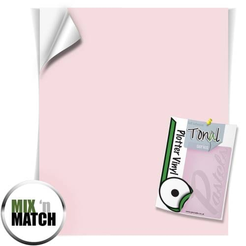 Blush Pink Coloured Tonal Pastel Self Adhesive Vinyl Sheets