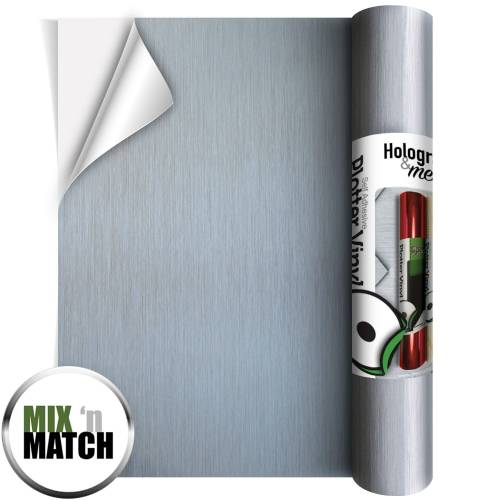 Brushed Silver Coloured Adhesive Vinyl Rolls From GM Crafts