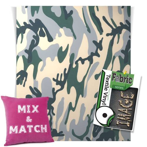 Camouflage Fashion Series HTV Sheets From GM Crafts
