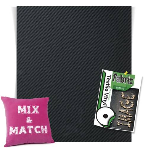 Black Carbon Fashion Series HTV Sheets From GM Crafts