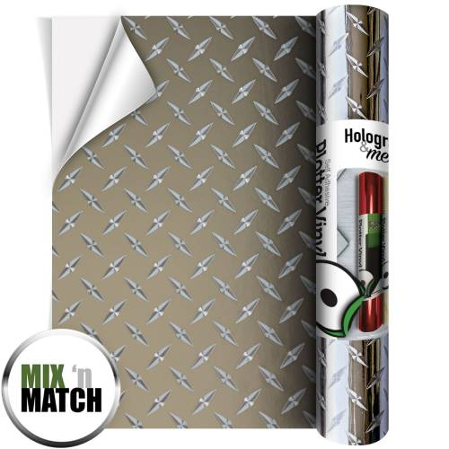 Mirror Silver Chequer Plate Silver Coloured Adhesive Vinyl Rolls From GM Crafts