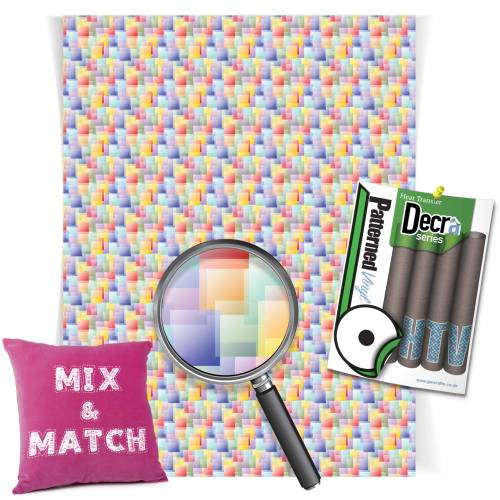 Coloured Squares Decra Series HTV Sheets From GM Crafts