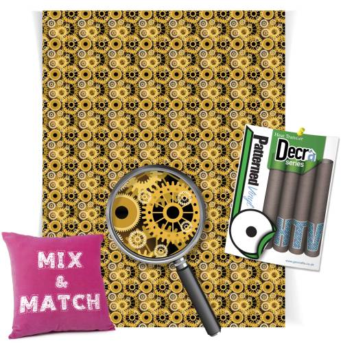 Golden Gears Decra Series HTV Sheets From GM Crafts