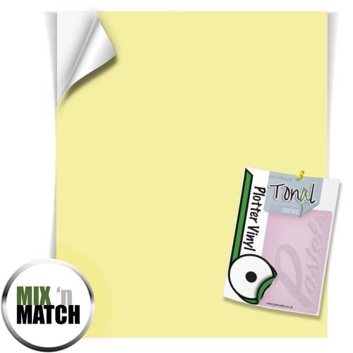 Lemon And Lime Coloured Tonal Pastel Self Adhesive Vinyl Sheets