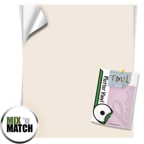 Pale Nutmeg Coloured Tonal Pastel Self Adhesive Vinyl Sheets