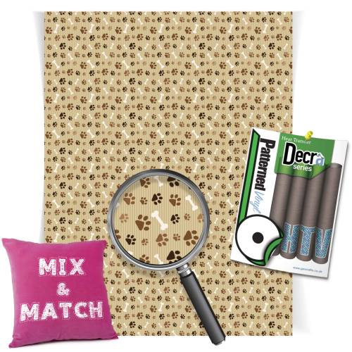 Brown Paw Prints Decra Series HTV Sheets From GM Crafts