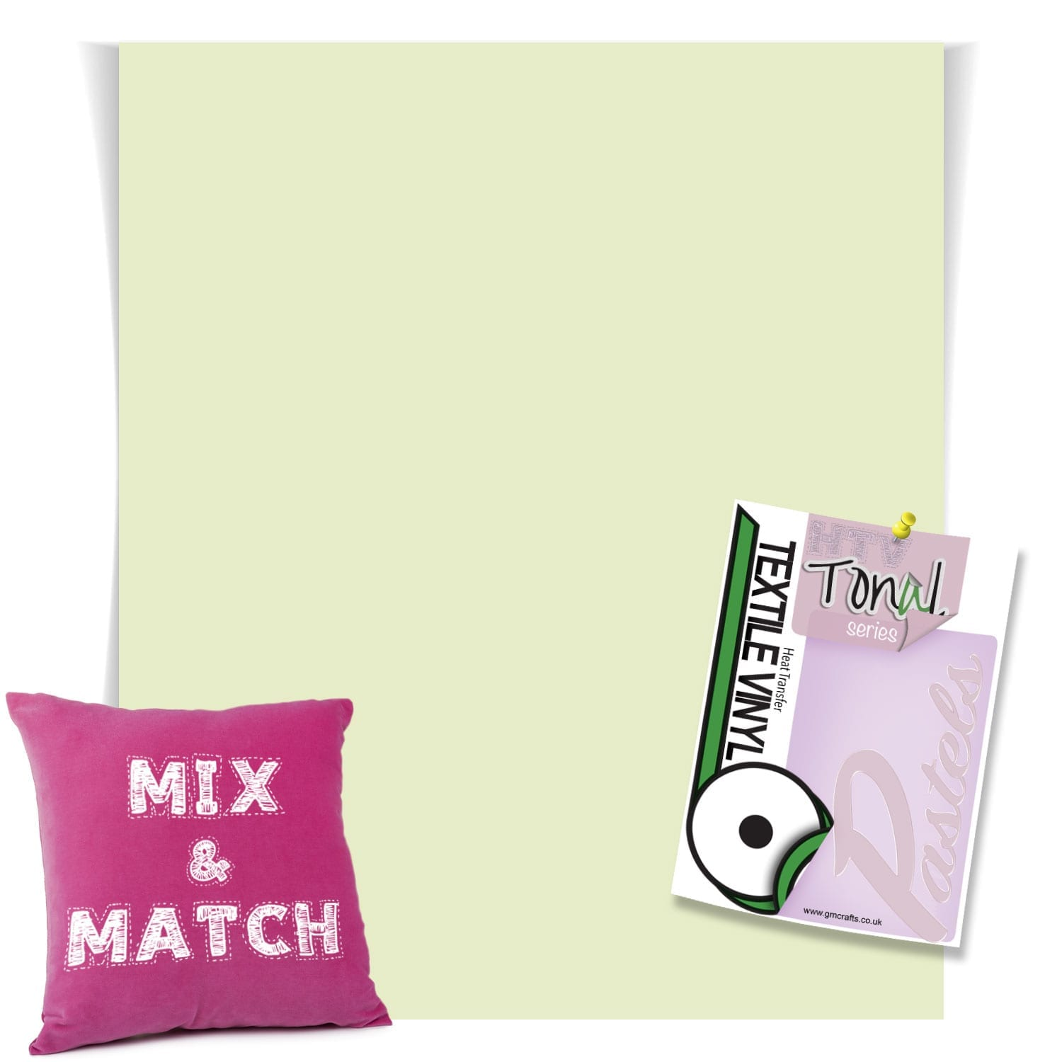 Sage Green Matt Pastel Htv 220mm X 240mm Sheet Gm Crafts