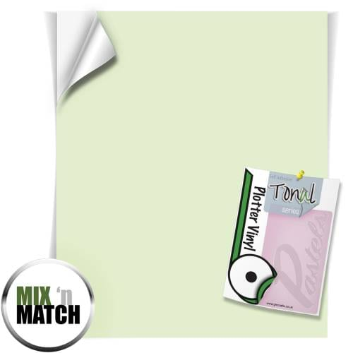 Sage Green Coloured Tonal Pastel Self Adhesive Vinyl Sheets