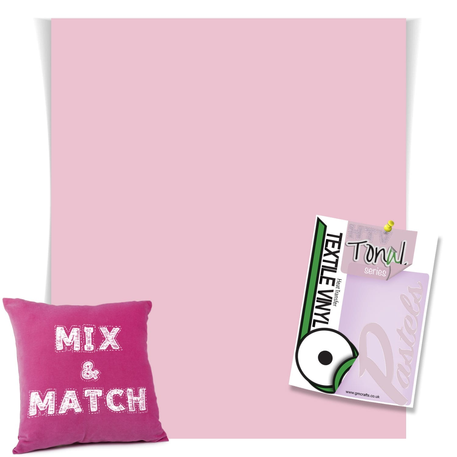 Tender Pink Matt Pastel Htv 220mm X 240mm Sheet Gm Crafts