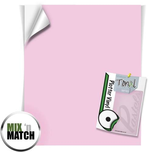 Tender Pink Coloured Tonal Pastel Self Adhesive Vinyl Sheets