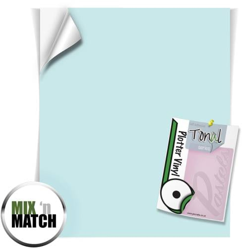 Tranquil Turquoise Coloured Tonal Pastel Self Adhesive Vinyl Sheets