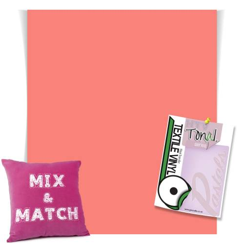 Coral Coloured Heat Transfer Vinyl Sheets From GM Crafts