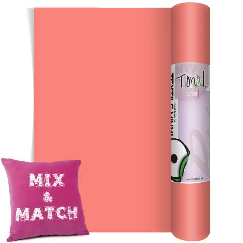 Coral Coloured Heat Transfer Vinyl Rolls From GM Crafts