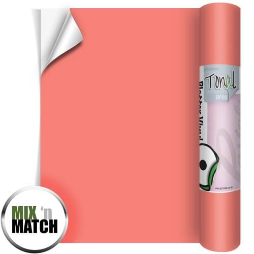 Coral Coloured Self Adhesive Vinyl Rolls From GM Crafts
