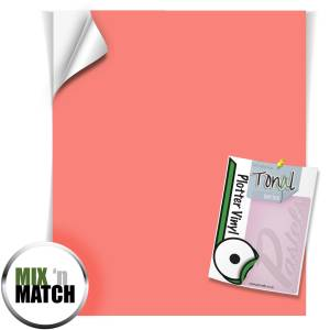 Coral Coloured Self Adhesive Vinyl Sheets From GM Crafts
