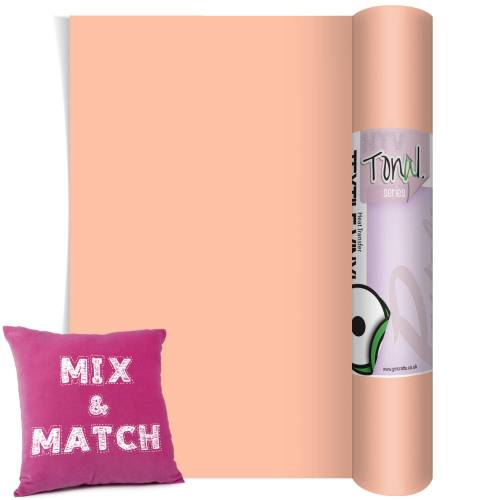 Peach Coloured Heat Transfer Vinyl Rolls From GM Crafts