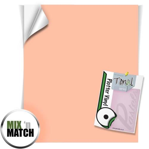 Peach Coloured Self Adhesive Vinyl Sheets From GM Crafts