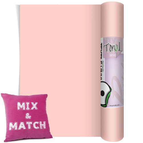 Rose Pink coloured HTV Pastel Vinyl Rolls From GM Crafts