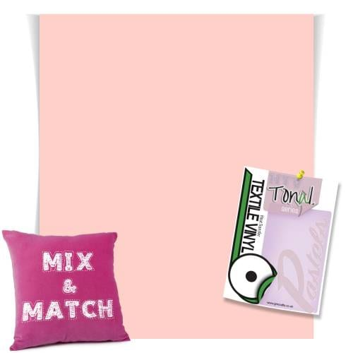 Rose Pink coloured HTV Pastel Vinyl Sheets From GM Crafts