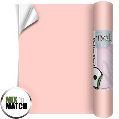 Rose Pink coloured Self Adhesive Pastel Vinyl Rolls From GM Crafts