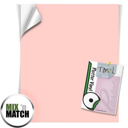 Rose Pink coloured Self Adhesive Pastel Vinyl Sheets From GM Crafts