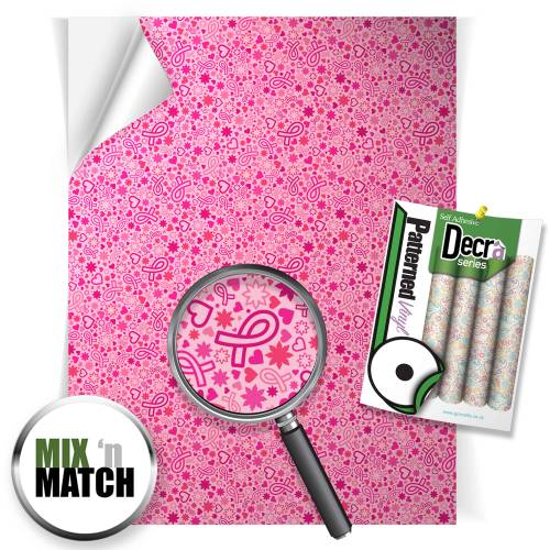 Breast Cancer Awareness Patterned Self Adhesive Vinyl Sheets From GM Crafts