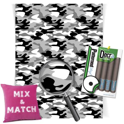 Camouflage Urban Patterned HTV Vinyl Sheets From GM Crafts