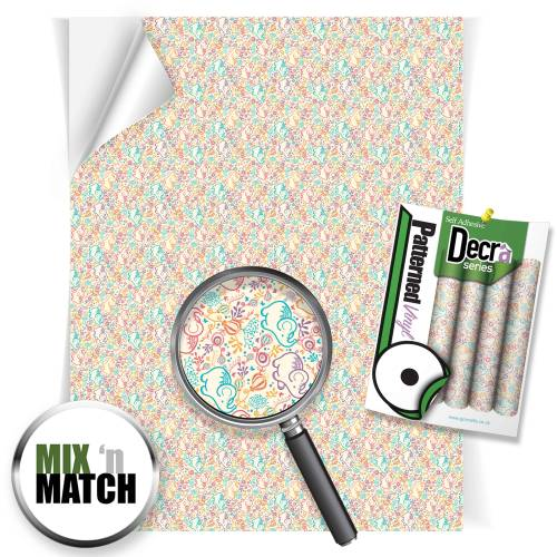 Elephant Beige Patterned Self Adhesive Vinyl Sheets From GM Crafts