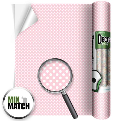 Polka Dots Pink Patterned Self Adhesive Vinyl Rolls From GM Crafts