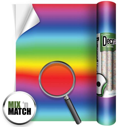 Rainbow Stripes Patterned Self Adhesive Vinyl Rolls From GM Crafts