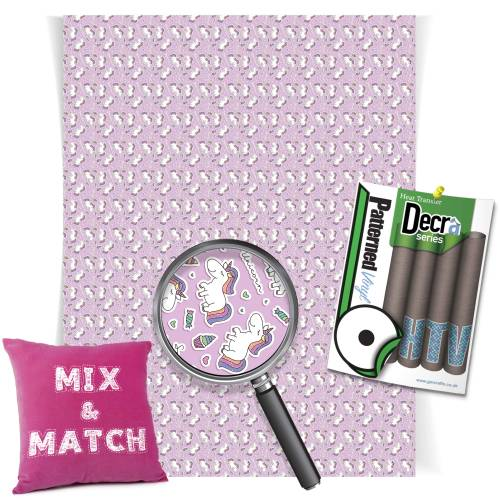 Unicorn Pink HTV Iron on Vinyl Sheets From GM Crafts