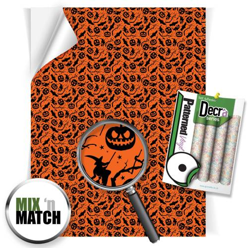 Bats and Pumpkin Patterned Self Adhesive Vinyl Sheets From GM Crafts