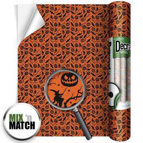 Bats and pumpkins glitter roll image