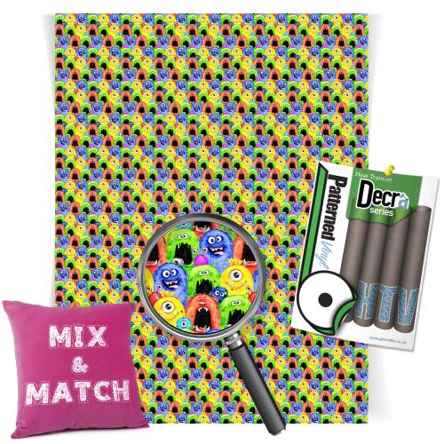 Cheeky Monsters Patterned HTV Vinyl From GM Crafts