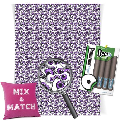 Purple Eyeballs Patterned HTV Vinyl From GM Crafts