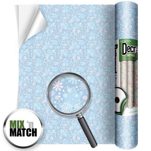 Frozen Icicles Patterned Self Adhesive Vinyl Rolls From GM Crafts