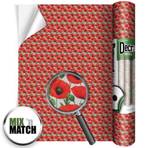 Poppies Decra Glitter Roll image