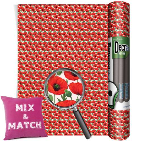 Poppy Patterned HTV Vinyl Rolls From Gm Crafts