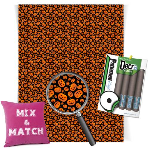 Pumpkin Heads Patterned HTV Vinyl From GM Crafts