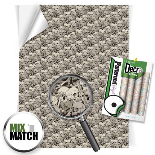 Skulls Patterned Self Adhesive Vinyl Sheets From GM Crafts