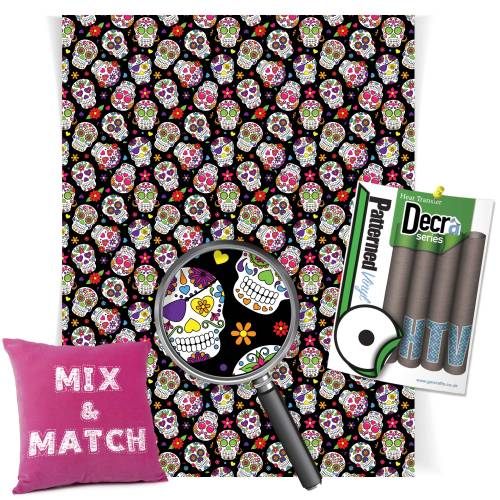 Sugar Skulls Sheet HTV Roll Image