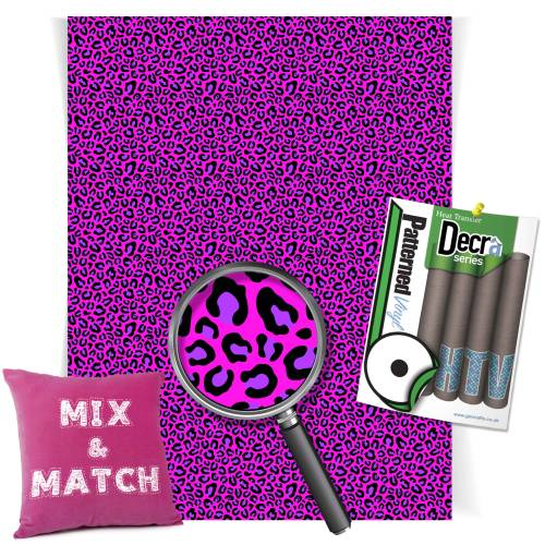 Leopard Pink And Purple Pattern Heat Transfer HTV Vinyl Sheets From GM Crafts